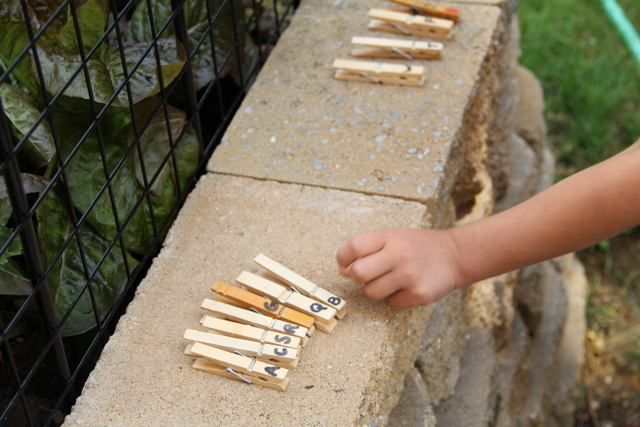 Literacy Activity for kids Outdoors from Sugar Aunts