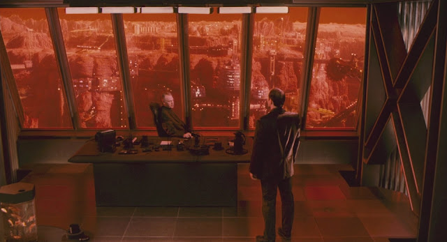 Mars colony and Cohaagen - Total Recall 1990 movie image