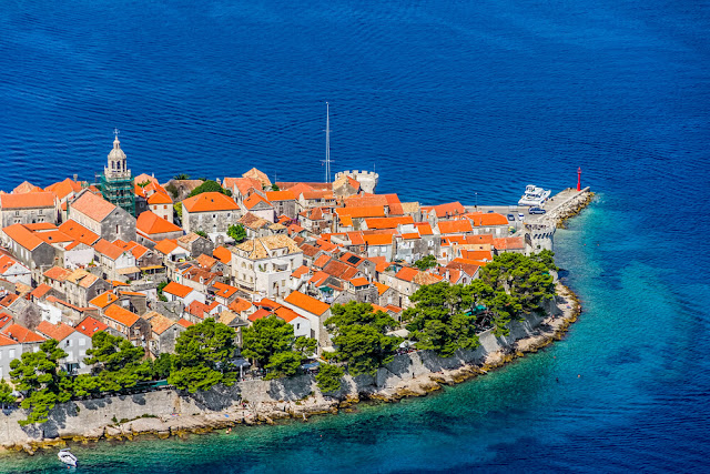 The island of Korčula, Croatia