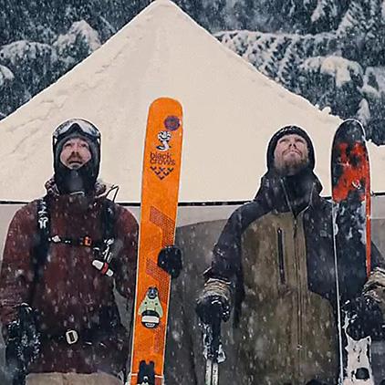 Skiing & Snowfall Wallpaper Engine