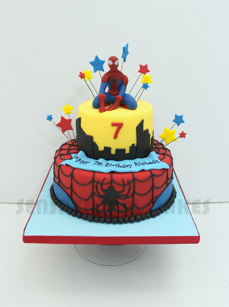 The Sensational Cakes Spider M Theme 3d Cake Singapore