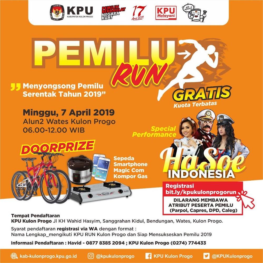 Pemilu Run - Kulon Progo • 2019