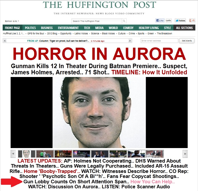 Aurora Shooter: Huff-Watch: HuffPost Stands Atop Colorado Corpses To