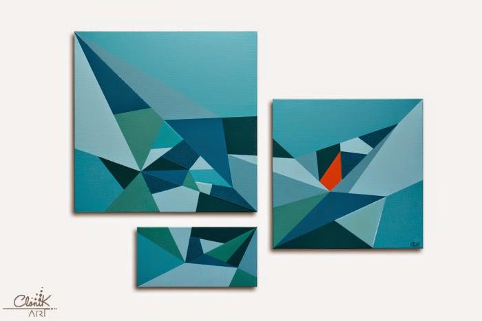 tableau contemporain par clo v tableaux contemporains s rie ice. Black Bedroom Furniture Sets. Home Design Ideas