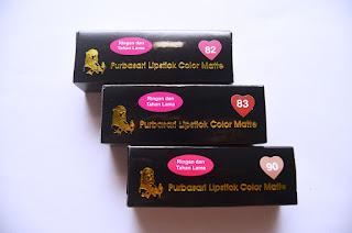Distributtor Lipstik Purbasari Matte Murah Harga Grosir