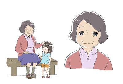 Masako Nozawa como la abuela de Nagisa