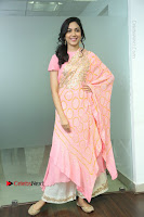 Actress Ritu Varma Pos in Beautiful Pink Anarkali Dress at at Keshava Movie Interview .COM 0159.JPG