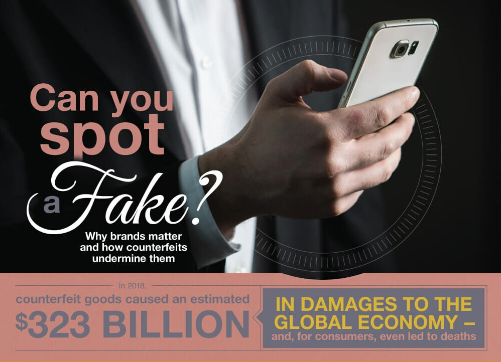 The Cost Of Counterfeits - And How To Avoid Them (infographic)
