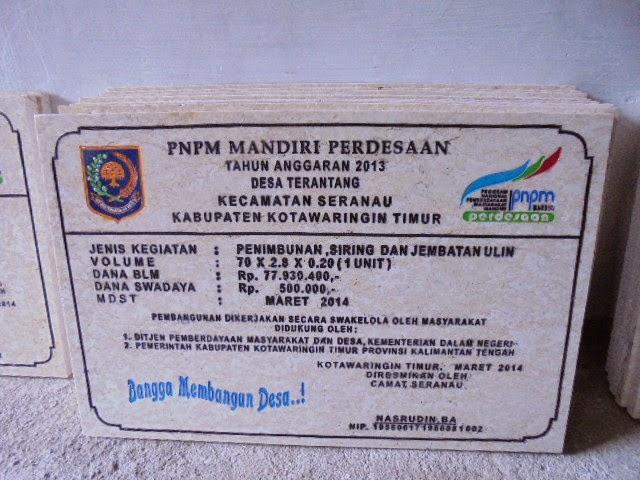 Contoh Batu Prasasti Marmer PNPM
