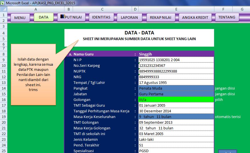 Data aplikasi pkg