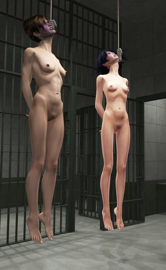 Suspended Naked Women