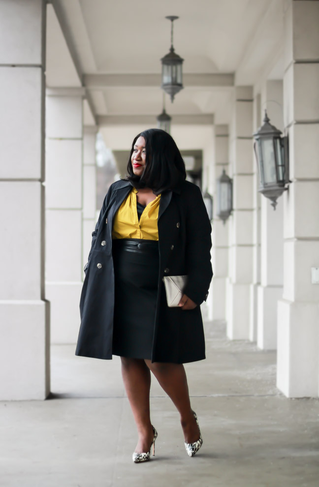 How to Wear Yellow Statement Sleeves Spring 2017 Plus Size