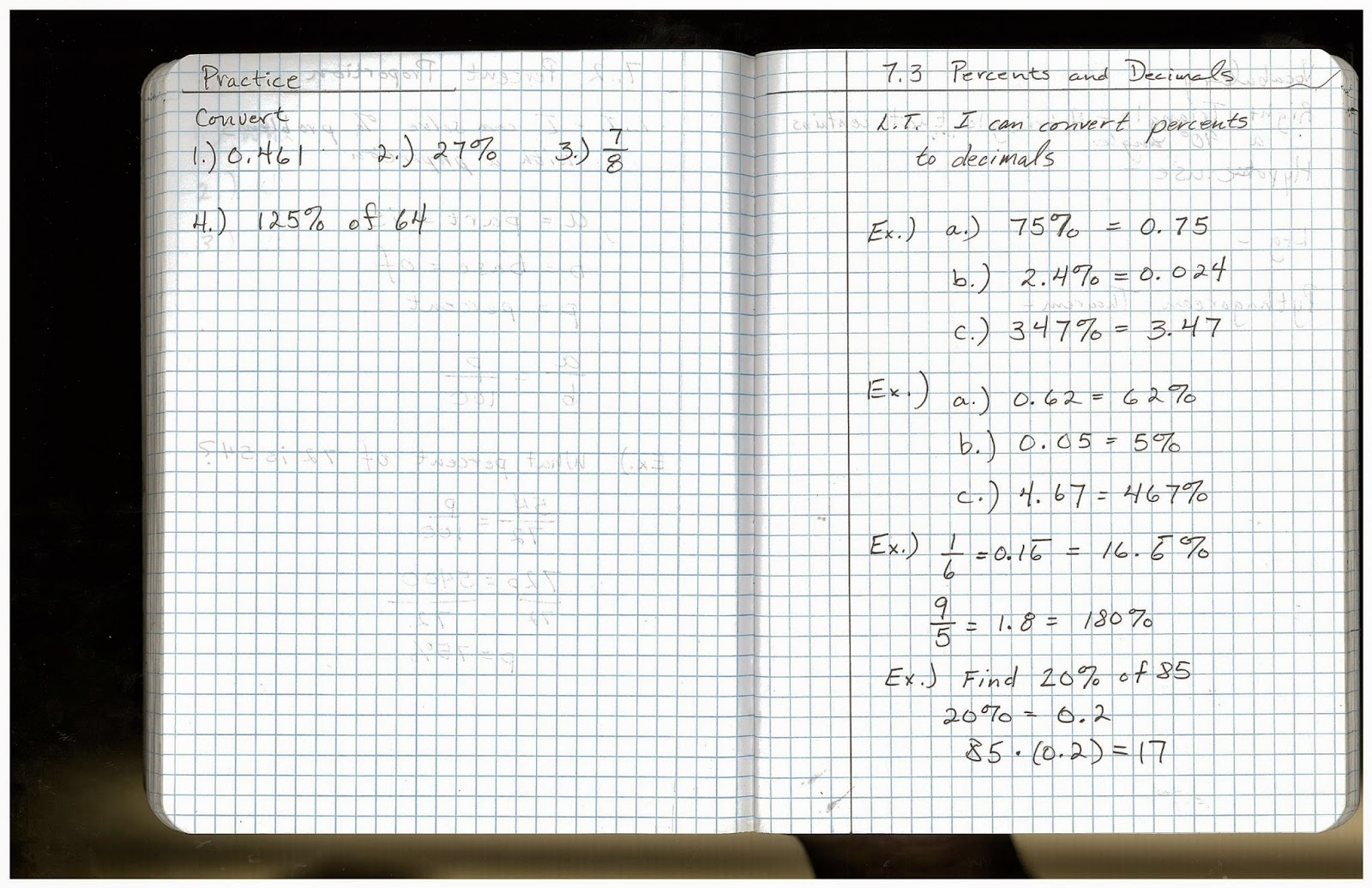 Heidemann 8th Grade Math 7th Period Pre Algebra 3 5