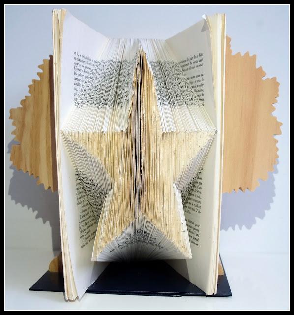 pliage livre en étoile origami livre
