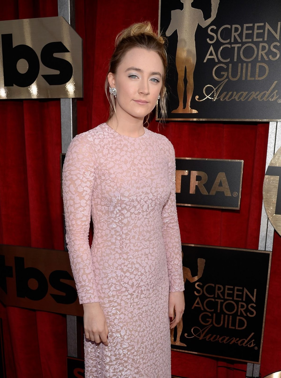 SAG Awards 2016 - Saoirse Ronan in Pink at Screen actors Guild Awards in Los Angeles
