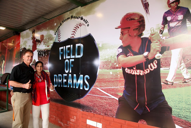 Rosie Sahni with Rick Dell Director Baseball development in Asia