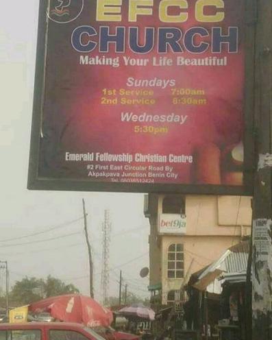 EFCC church spotted in Edo State