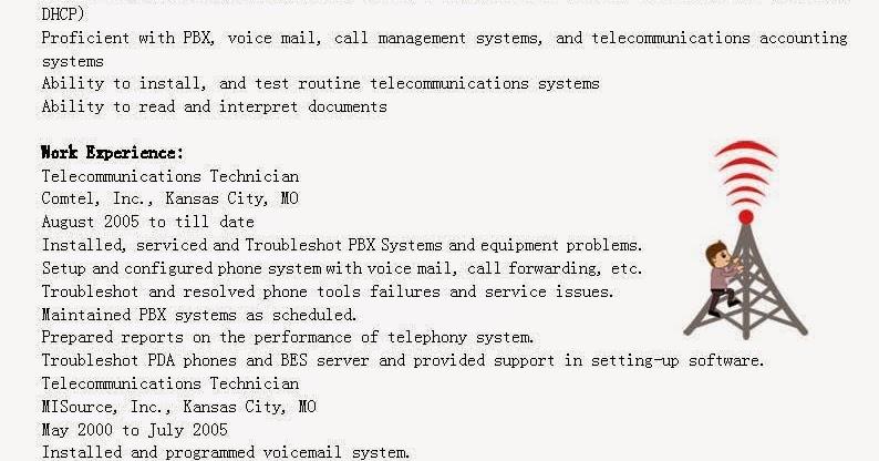 Resume Samples Telecommunications Technician Resume Sample - telecommunication technician resumes