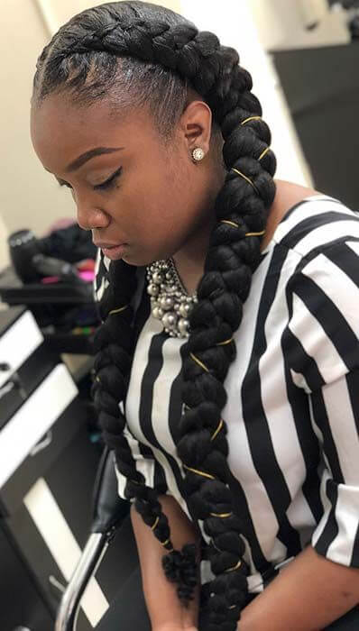 34 Two Braids styles With Weave 2019 For African Women To