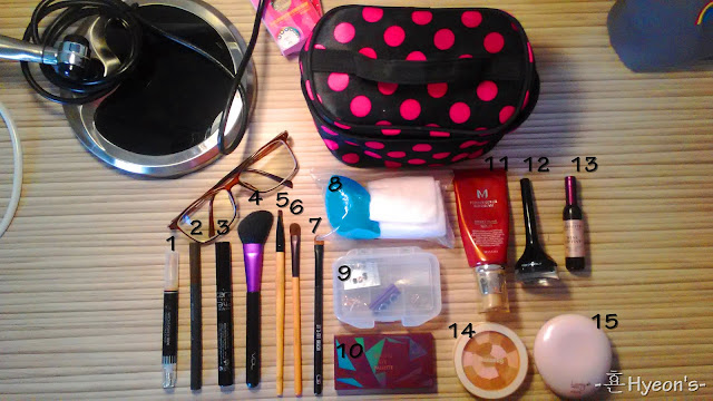 my makeup travel pouch