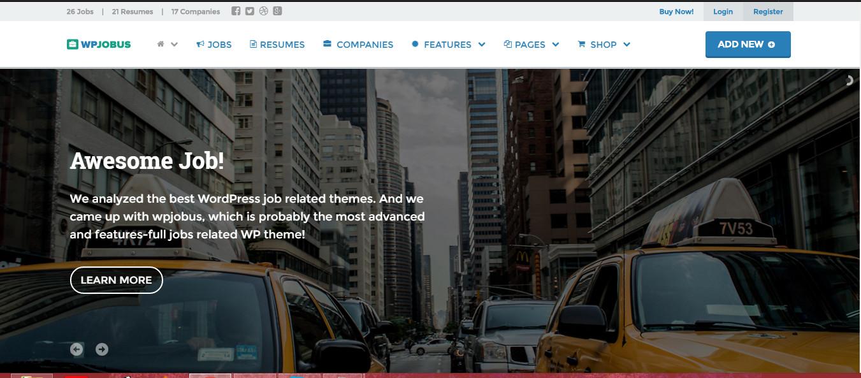 WpJobus wordpress theme for resume jobs and company profiles
