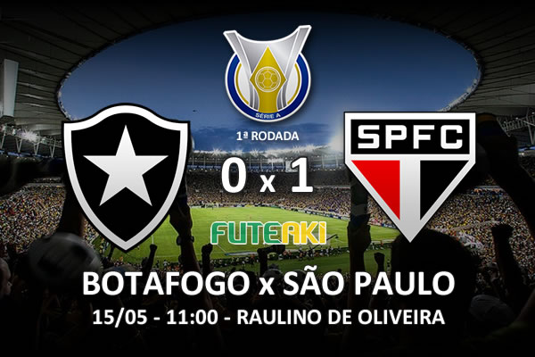 Veja o resumo da partida com o gol e os melhores momentos de Botafogo 0x1 São Paulo pela 1ª rodada do Brasileirão 2016.
