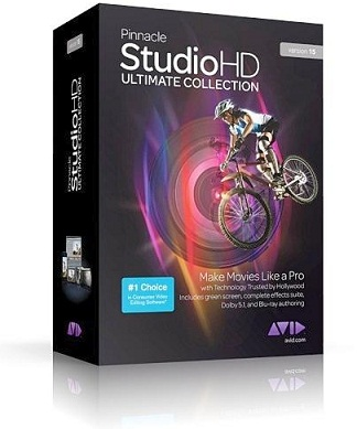 Capa Pinnacle Studio HD Ultimate Collection v15 + Crack