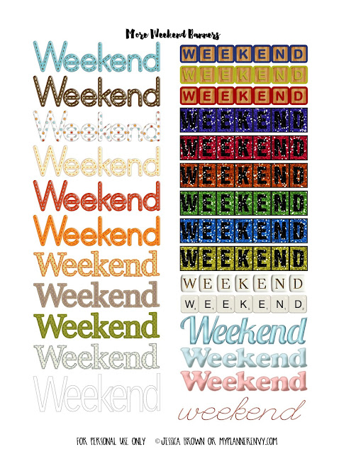 More Random Weekend Banners for the Erin Condren and Happy Planner on myplannerenvy.com