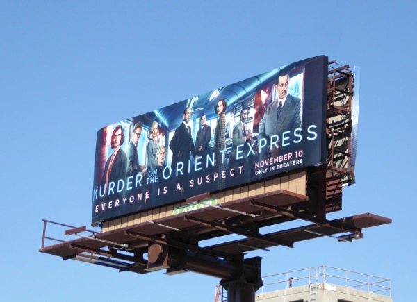 Murder on the Orient Express film billboard