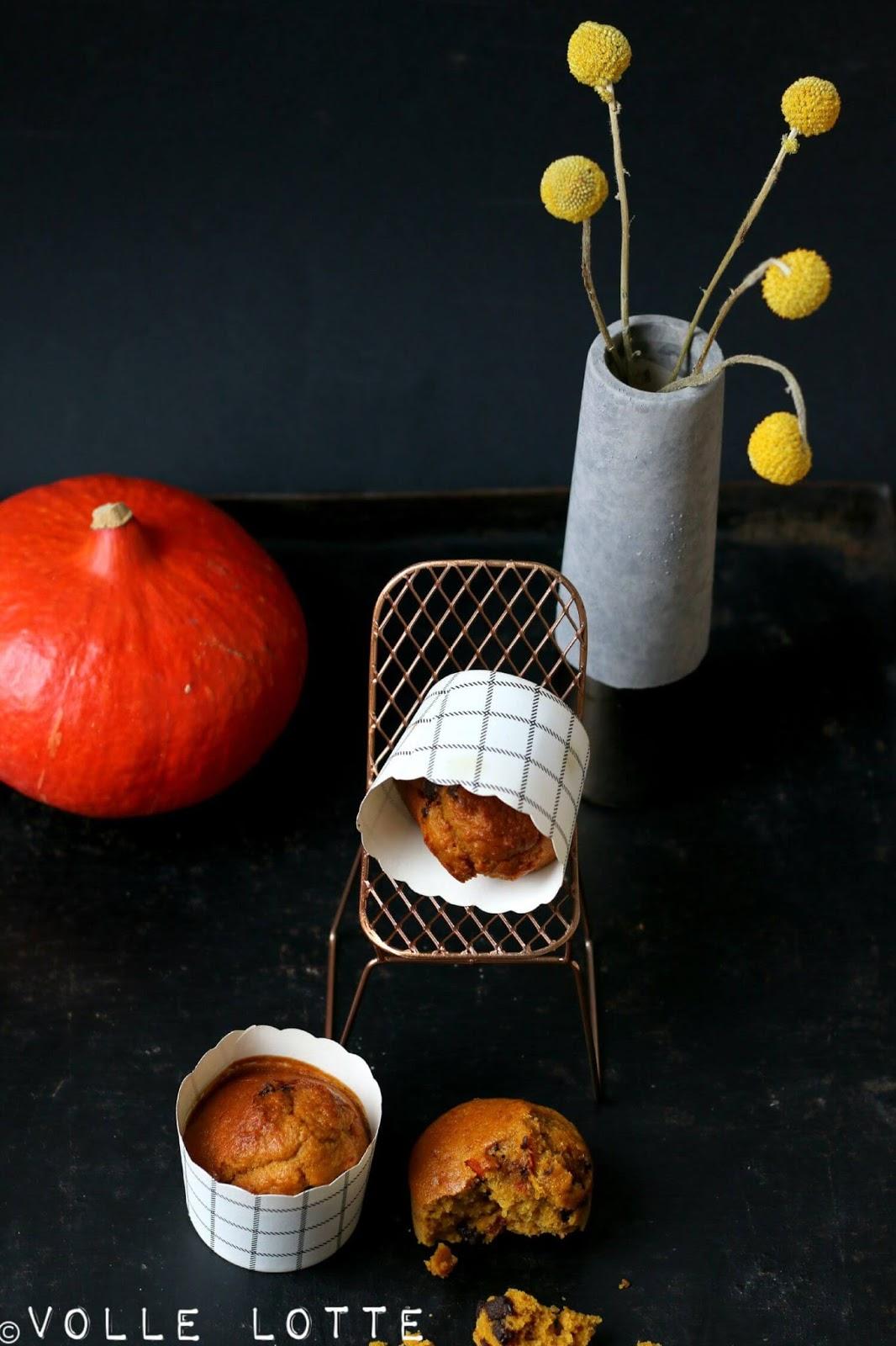 herbst da bist du wir feiern es mit k rbis schokolade muffins volle lotte. Black Bedroom Furniture Sets. Home Design Ideas