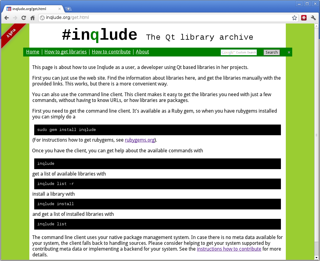 Cornelius' Blog: Introducing Inqlude, the Qt library archive