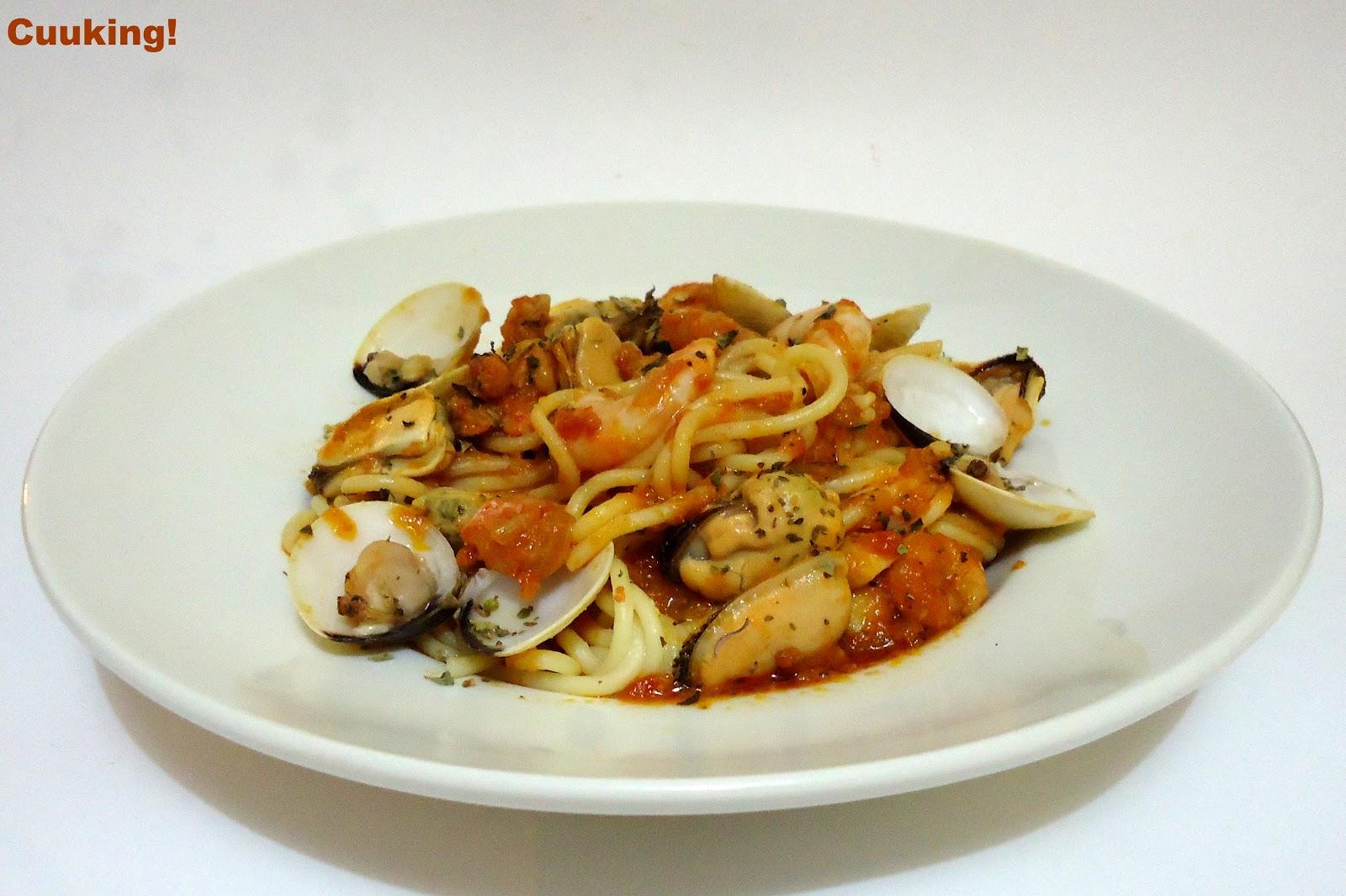 Spaghetti frutti di mare   Cuuking! Recetas de cocina