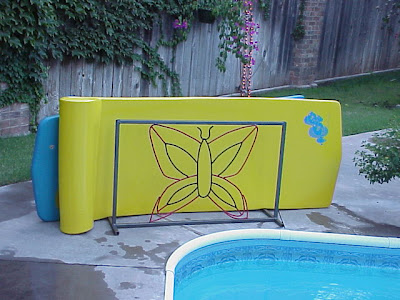 Jeri s organizing decluttering news summer organizing the pool toys for Swimming pool float storage rack