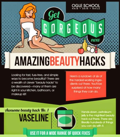 Beauty Hack Makeup: 6 Amazing Beauty Hacks