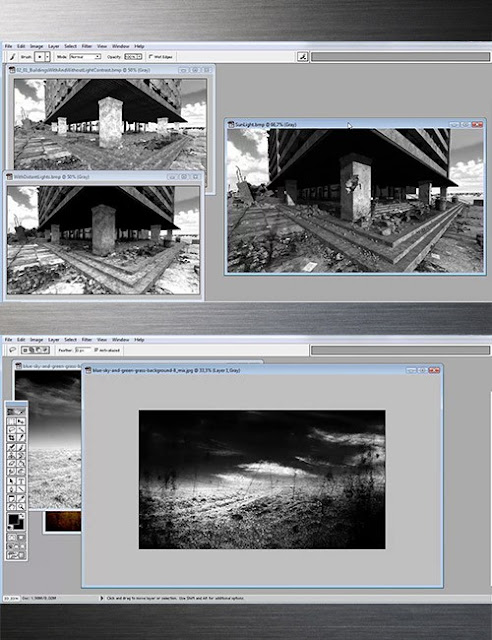 Black and White 3D Art Tutorial