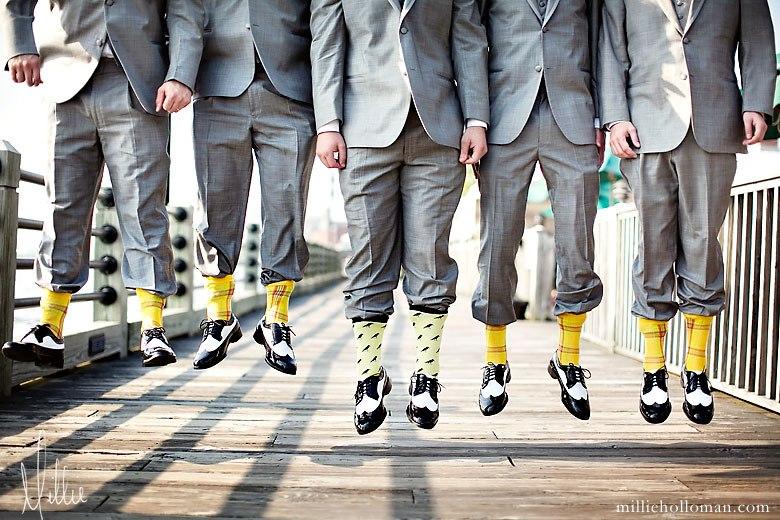 Adrian And Jana Wedding Trend Colourful Groomsmen Socks