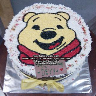 Kue Tart Winnie The Pooh Buttercream Lucu