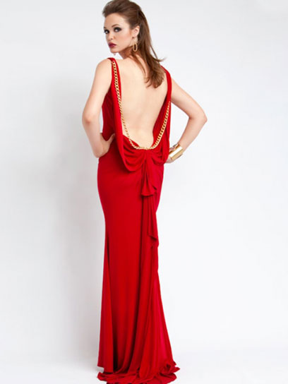 fashion and life style: Red Backless Prom Dress