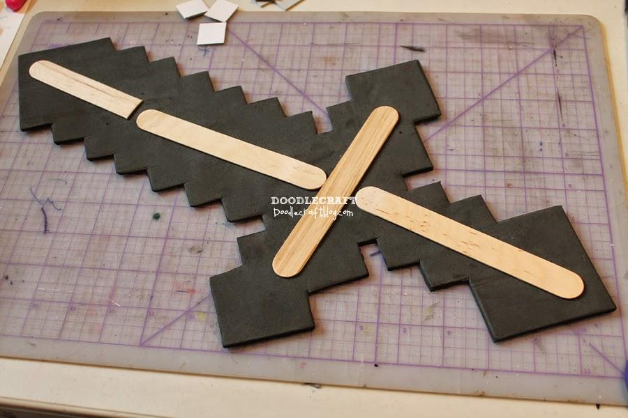 Doodlecraft foam minecraft sword diy solutioingenieria Choice Image