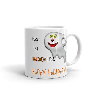 ghost baby coffee mug halloween