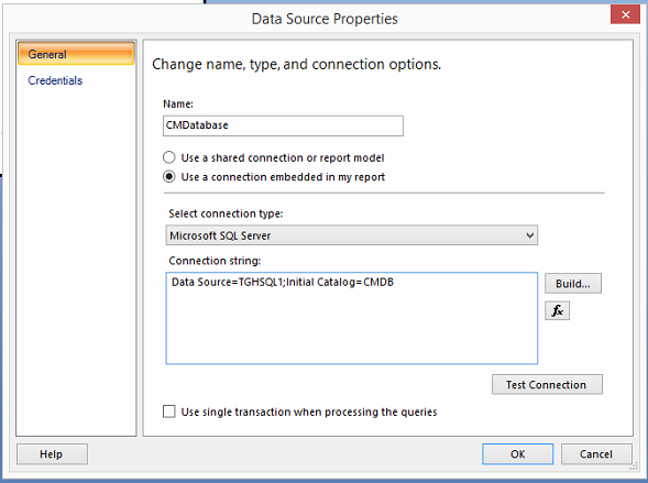 SSRS Report using Configuration Manager Database Data 1