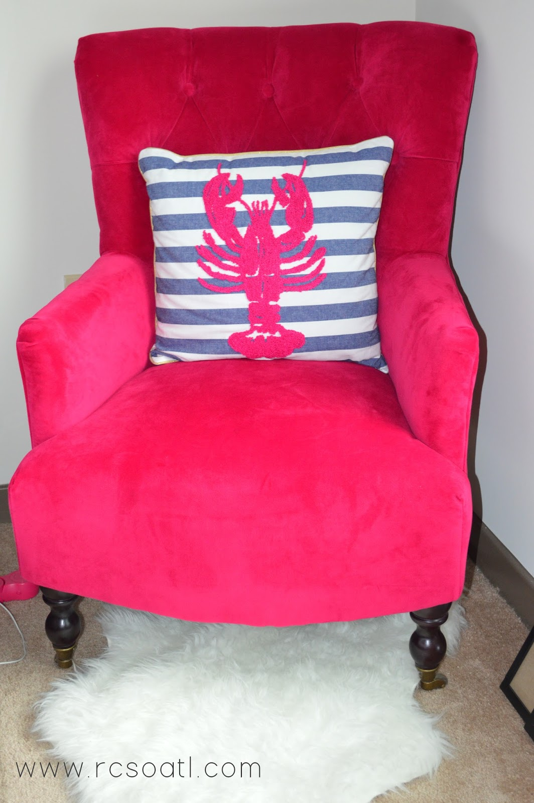 hot pink office chair stool with backrest real college student of atlanta my new room