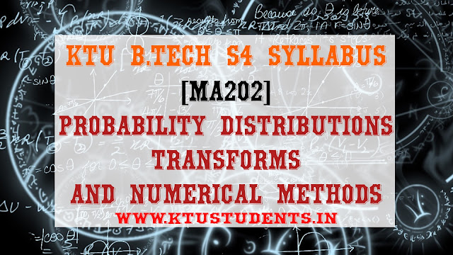 ktu b.tech s4 syllabus for ma202