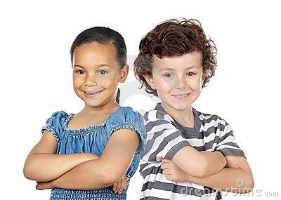 Friendship, Black, White, Children, Kids, Beauty, Angelic, Innocence,