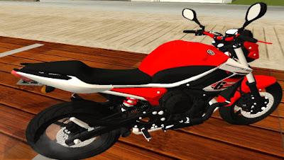 YAMAHA XJ6 RED F para GTA San Andreas , GTA SA , Gta san