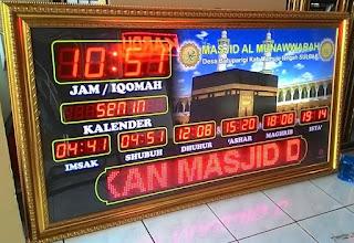 Jadwal Sholat Digital Masjid Sulbar