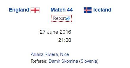 England Vs Iceland Live Stream Euro 2016