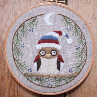http://www.theflossbox.com/store/pattern/winter-owl-crewel-embroidery