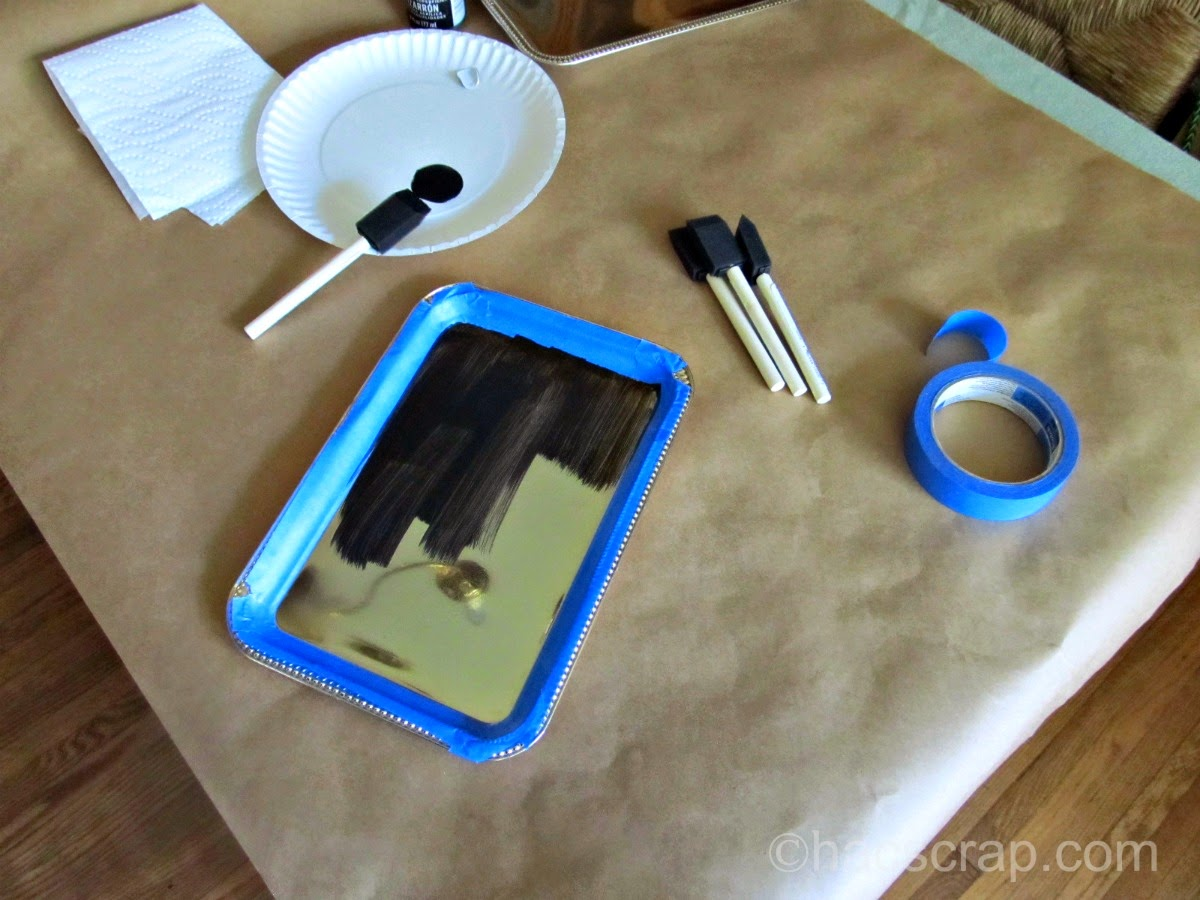 DIY Chalkboard Tray Painting