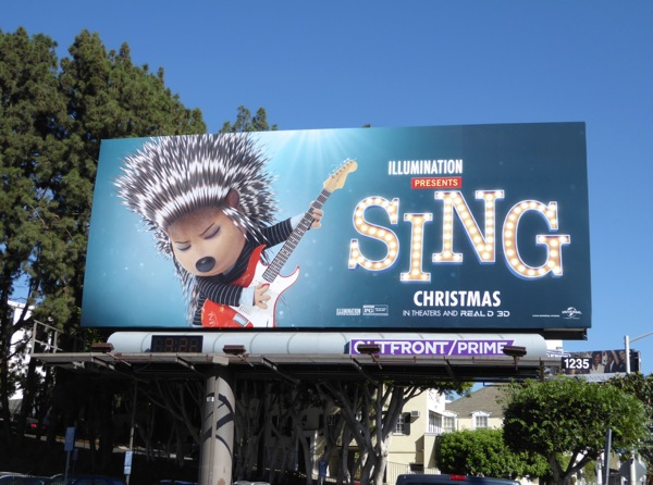 Sing movie billboard